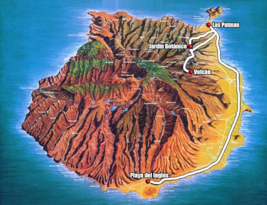 Las Palmas, botanical garden and volcano Bandama
